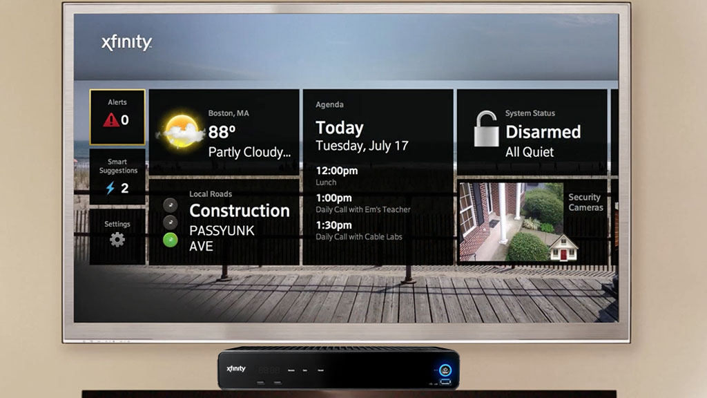 Prototype of a personal dashboard demoed at the Cable Show using the X1 Set Top Box