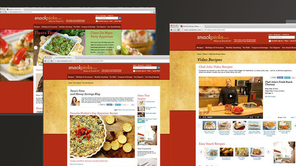 Portfolio site for Kellogg's snack foods and brands. Worked CMS and platform integration.