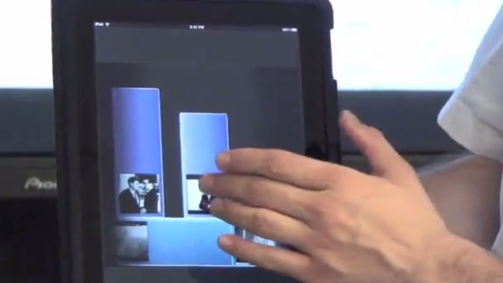 A second iteration of the prototype using a second screen (tablet) to control the television. The app merges the rich content of television with the interactivity and archiving capabilities of the world wide web.